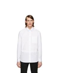 Мужская белая классическая рубашка от Burberry