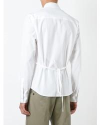 Женская белая классическая рубашка от Chalayan