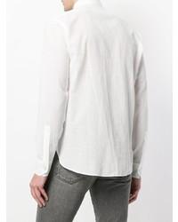Мужская белая классическая рубашка от Saint Laurent