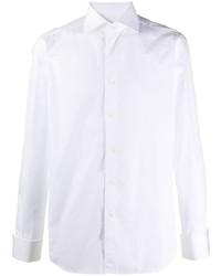 Мужская белая классическая рубашка от Corneliani