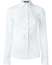 Женская белая классическая рубашка от Dolce & Gabbana