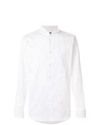 Мужская белая классическая рубашка от Emporio Armani