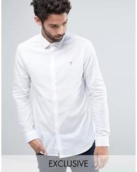 Мужская белая классическая рубашка от Farah