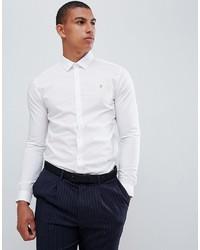 Мужская белая классическая рубашка от Farah Smart