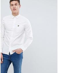Мужская белая классическая рубашка от Lyle & Scott