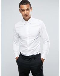 Мужская белая классическая рубашка от Mango