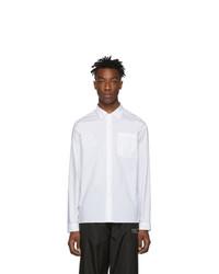 Мужская белая классическая рубашка от Moncler Genius