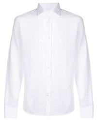 Мужская белая классическая рубашка от Mp Massimo Piombo