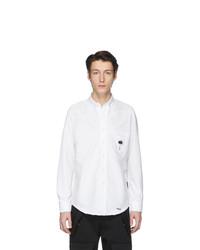 Мужская белая классическая рубашка от Palm Angels