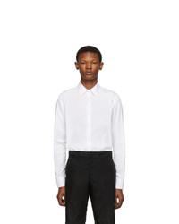 Мужская белая классическая рубашка от Prada