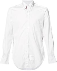 Мужская белая классическая рубашка от Thom Browne