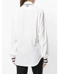 Женская белая классическая рубашка от Thom Browne