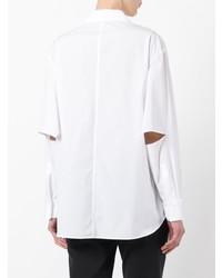 Женская белая классическая рубашка от Yohji Yamamoto