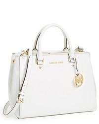 Белая кожаная большая сумка