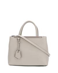 Белая кожаная большая сумка от Fendi