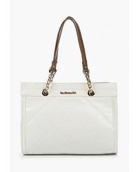 Белая кожаная большая сумка от Vera Victoria Vito
