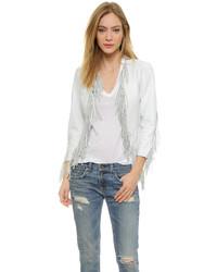 Женская белая кожаная куртка от Rebecca Minkoff