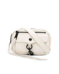 Белая кожаная поясная сумка от Rebecca Minkoff