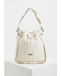 Белая кожаная сумка-мешок от Blugirl
