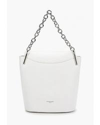 Белая кожаная сумка-мешок от David Jones
