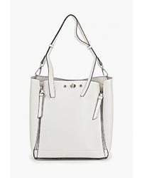 Белая кожаная сумка-мешок от Modis