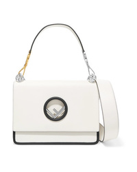 Белая кожаная сумка-саквояж от Fendi