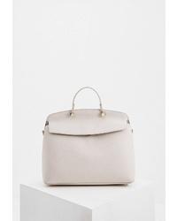 Белая кожаная сумка-саквояж от Furla