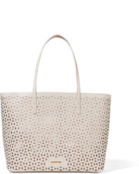 dab8fae48895 ... Белая кожаная большая сумка с геометрическим рисунком от Elizabeth and  James