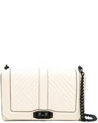 a0250997a3e1 ... Белая кожаная сумка через плечо с геометрическим рисунком от Rebecca  Minkoff