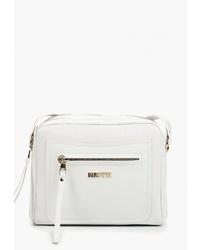 Белая кожаная сумка через плечо от Alessandro Birutti