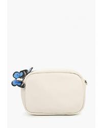Белая кожаная сумка через плечо от Antan