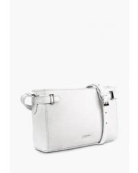 Белая кожаная сумка через плечо от Delgamo