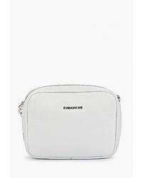 Белая кожаная сумка через плечо от Dimanche