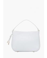 Белая кожаная сумка через плечо от Eleganzza