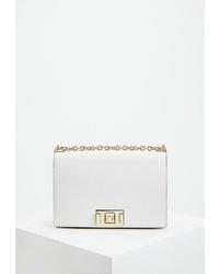 Белая кожаная сумка через плечо от Furla