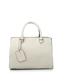 Женская белая кожаная сумка через плечо от Marc Johnson
