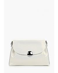Белая кожаная сумка через плечо от Roberto Jolini