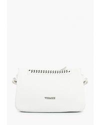 Белая кожаная сумка через плечо от Vitacci