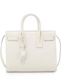 Женская белая кожаная сумочка от Saint Laurent