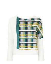 Женская белая кофта с коротким рукавом с принтом от Loveless