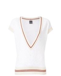 Женская белая кофта с коротким рукавом от Lorena Antoniazzi