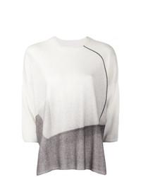 Женская белая кофта с коротким рукавом от Oyuna