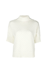 Женская белая кофта с коротким рукавом от See by Chloe
