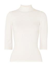 Женская белая кофта с коротким рукавом от Theory