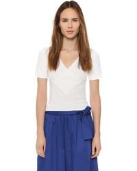 Женская белая кофта с коротким рукавом от Tome