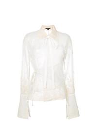 Белая кружевная блузка с длинным рукавом от Ann Demeulemeester