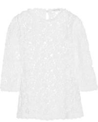 Белая кружевная блузка с длинным рукавом от Etoile Isabel Marant