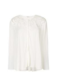 Белая кружевная блузка с длинным рукавом от Giambattista Valli