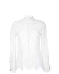 Белая кружевная блузка с длинным рукавом от Macgraw