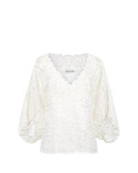 Белая кружевная блузка с длинным рукавом от Martha Medeiros